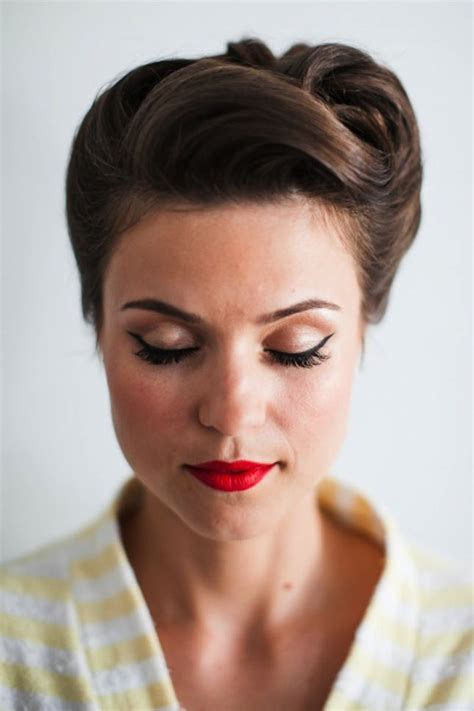 1950s Hairstyles Updos by Go For Some 1950s Glam With This Hairstyle
