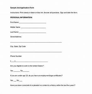 21 employment application templates pdf doc free With basic employment application template free