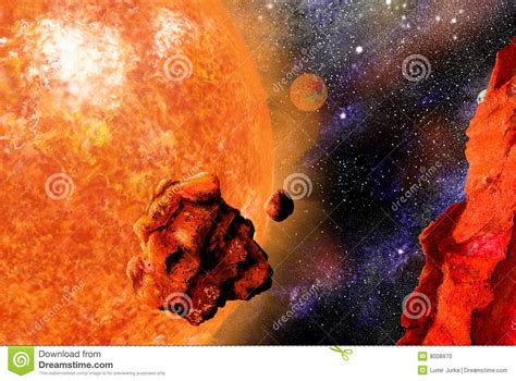 Giant Star And Falling Stone Stock Photo Image 8008970