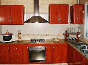 cuisine rouge bois With cuisine bois et rouge
