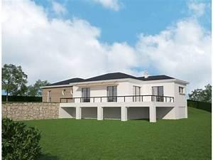 plan maison contemporaine avec sous sol With maison en pente forte 10 maison sous sol complet saphir logivelay