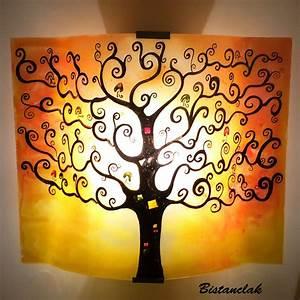Arbre De Vie Deco : luminaire applique d 39 ambiance jaune et orange arbre de vie ~ Teatrodelosmanantiales.com Idées de Décoration