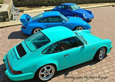 porsche mint green 964 rs clubsport mint green 993 rs riviera blue 964 rs