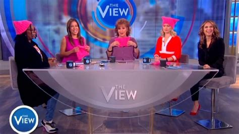 'the View Ladies Wear 'pussy Hats To Support Womens March