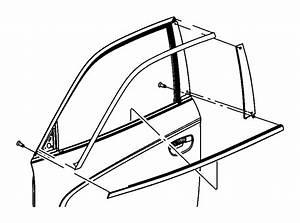 2013 Dodge Charger Weatherstrip  Front Door Belt  Right