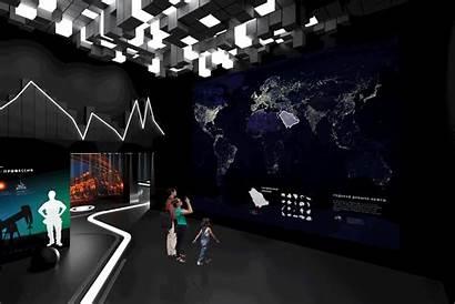 Exhibition Hall Pavilion Space Interactive Transform Lukoil