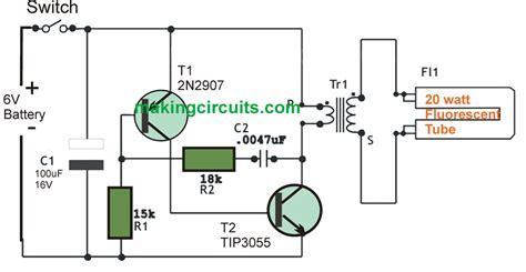 dc  watt florescent lamp driver circuit