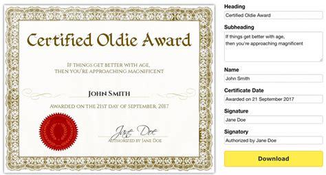 printable gag certificates
