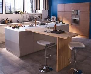 Jambage Plan De Travail : cuisine avec coin repas table bar lot pour manger c t maison ~ Melissatoandfro.com Idées de Décoration