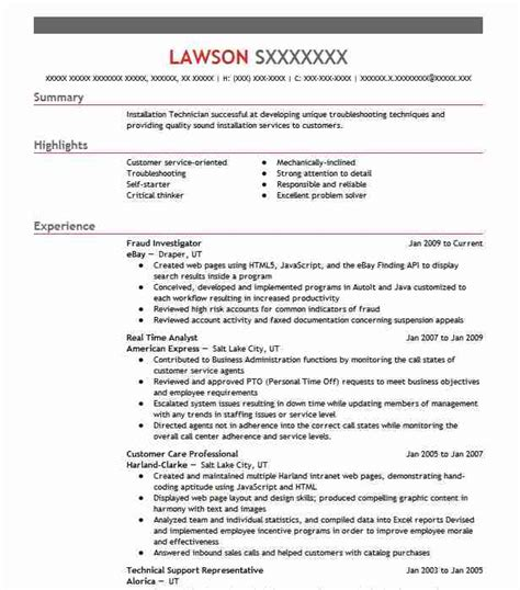 Resume Fraud by Fraud Investigator Resume Sle Resumes Misc Livecareer
