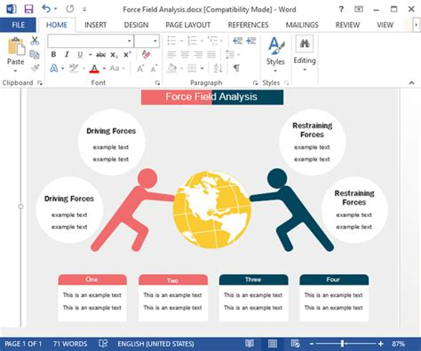 force field analysis templates   word  powerpoint