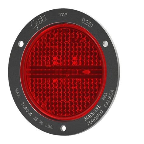 53192 4 quot led stop turn light theft resistant flange