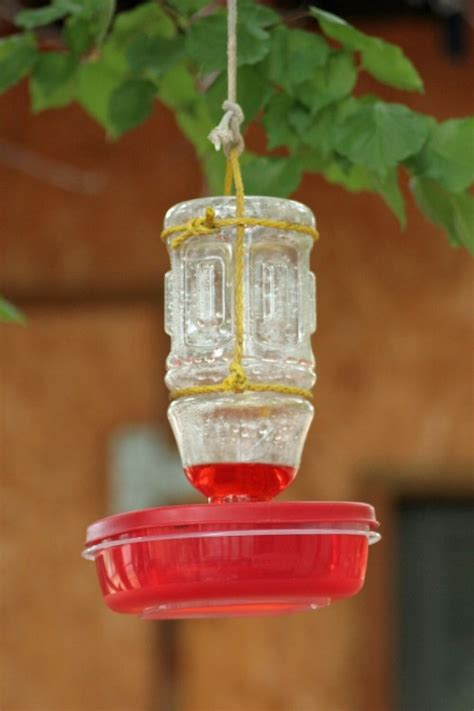 simple plastic diy hummingbird feeder shelterness