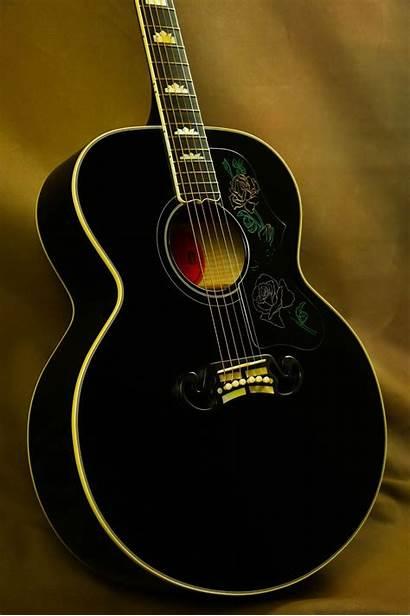 Gibson Rose Guitar Guitars Acoustic Sj Ebony