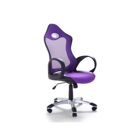chaise de bureau fauteuil design violet ichair achat vente chaise de bureau cdiscount