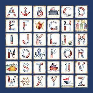nautical alphabet so cute nautical pinterest With nautical themed letter art