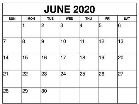 printable june  calendar  zudocalendrio