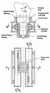 Top And Front View Schematics Of The Crane Rotary