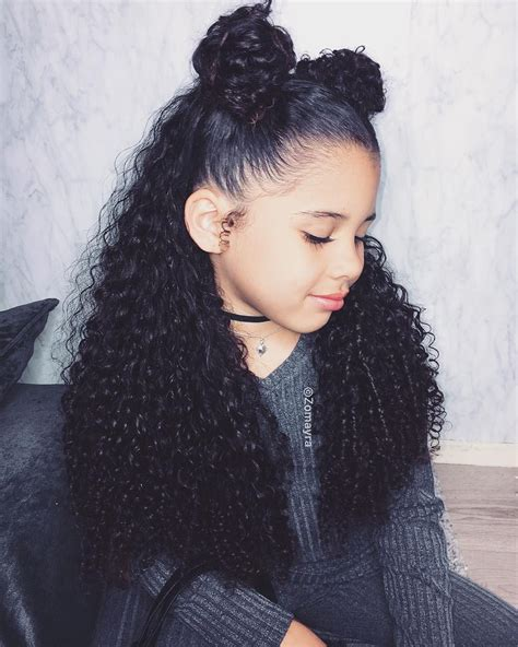 Hairstyles For Mixed Hair by Pin By Omanee Gipson On Future In 2019 Curly Hair Styles