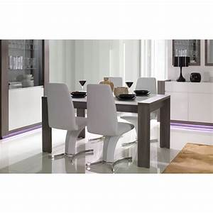 stunning salle a manger blanc gris laque contemporary With table salle a manger grise