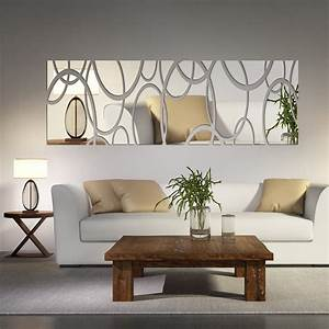 Acrylic mirror wall decor art d diy stickers living