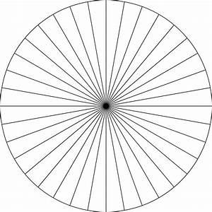 Polar Graphs Polar Grid In Degrees With Radius 1 Clipart Etc