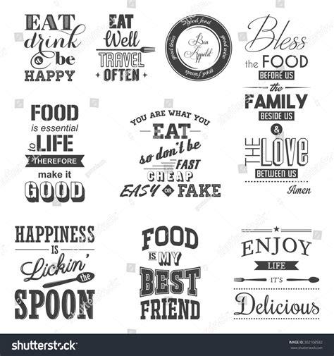 set vintage food typographic quotes vector stock vector 302108582 shutterstock