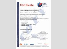 Cosmos Nautical Training Centre Recognized Certificates
