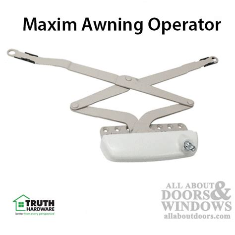 truth maxim awning window operator sill mount white