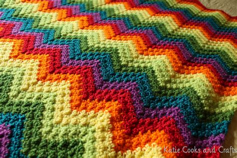 ripple afghan katie cooks and crafts rumpled ripple rainbow crochet baby afghan pattern