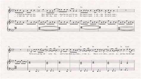 violin changes one direction sheet chords