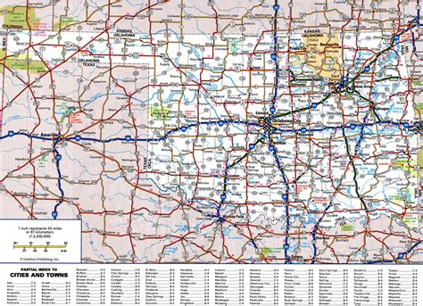 large detailed roads  highways map  oklahoma state