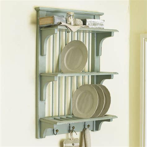 rustic wall plate rack  hooks  dibor