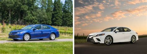 differences  toyota camry le  toyota camry se