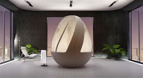 cocoon egg shower brings darth vaders isolation pod