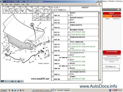 Citroen Spare Parts Catalog, Repair Manual, Service Manual