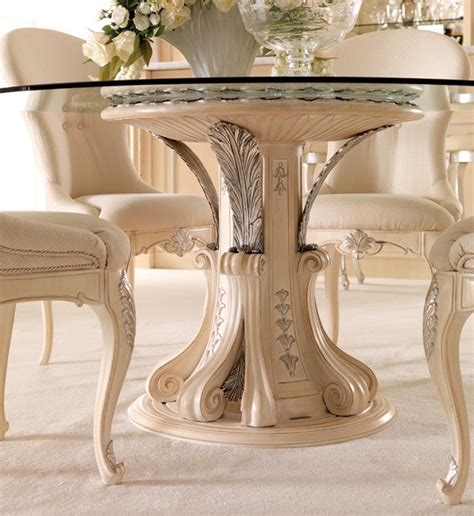 italian dining table sets opulent italian round glass dining table set