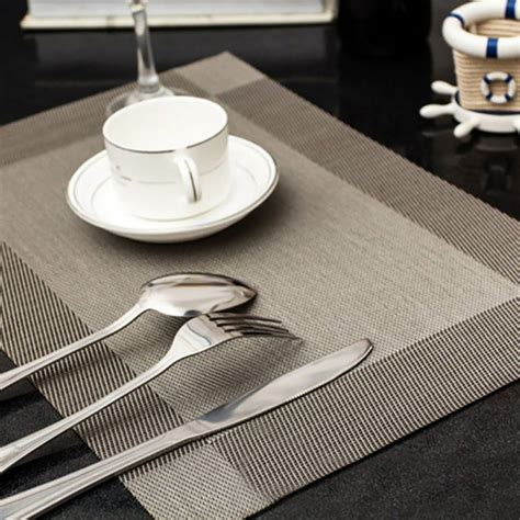 Table Mats - 4pcs table placemats set insulated drying place mat
