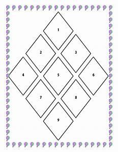 Blank Diamond Nine Template By Ljj290488