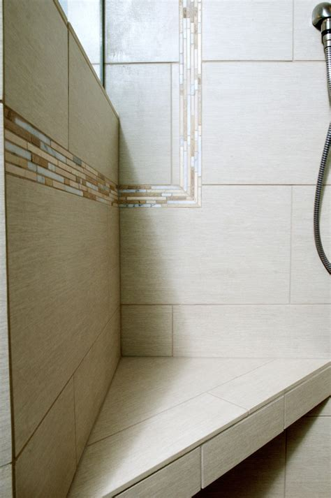 tile trim ideas bathroom with accent tile bench master