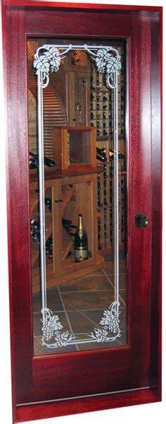 glass etching   wine cellar door wine room door