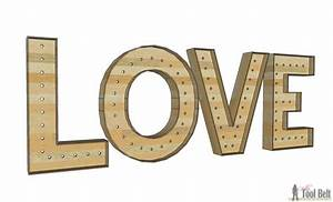 wood diy love marquee letters her tool belt With wooden marquee letters