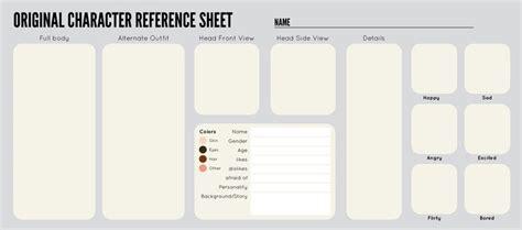 oc sheet template  zipporadeviantartcom  atdeviantart