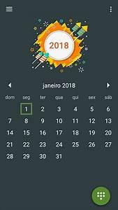Calendário 2018 Com Datas De Feriados Nacionais Brasil