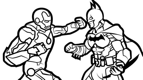Justice League Coloring Pages How To Draw Superman Batman