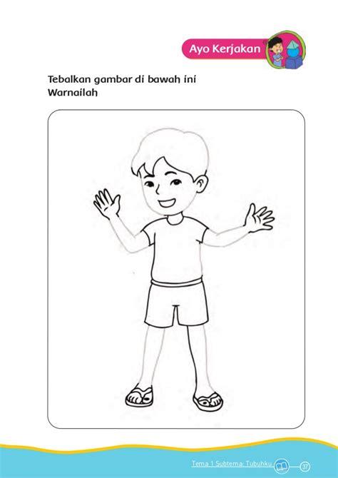 mewarnai gambar anak tk tema diri sendiri
