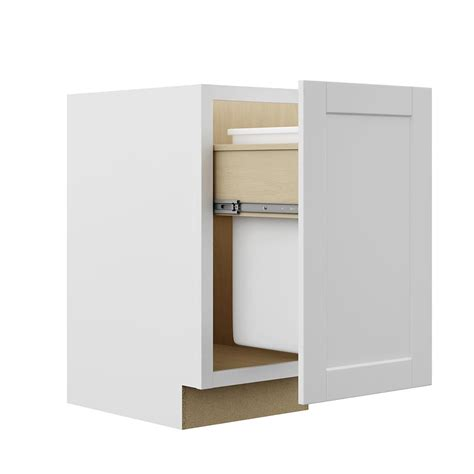 base cabinet pull out hton bay shaker assembled 18x34 5x24 in pull out trash