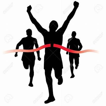 Finish Clip Line Race Clipart Marathon Runner