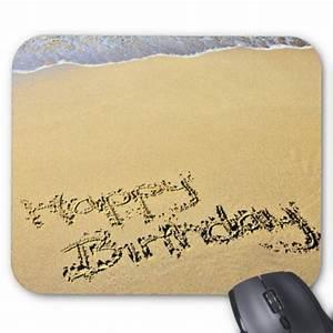joyeux anniversaire ecrit dans le sable tapis de souris With tapis de souris personnalisé avec acheter un bon canapé