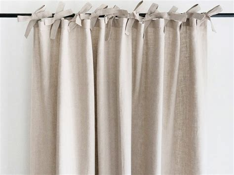 Natural Linen Curtains Custom Color Drapes Unlined Blackout